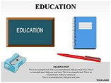 Educations People & 3D Figures powerpoint templates
