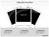 Timeline Polaroid Timelines & Calendars powerpoint templates