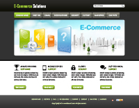 Ecommerce Solution Website Templates Web Templates powerpoint templates