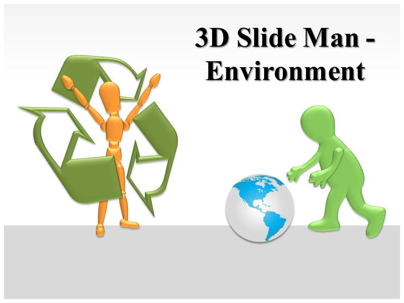 3D Slide Man Animations powerpoint templates