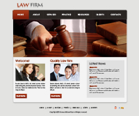 Law Firm Website Templates Web Templates powerpoint templates