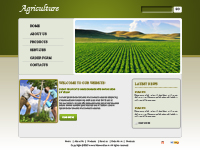 Agriculture Web Template  powerpoint templates