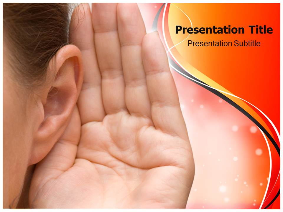 Hearing Medical powerpoint templates