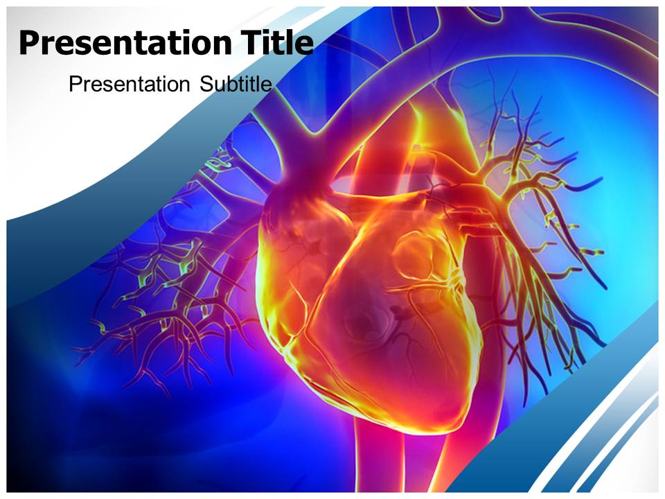 Pulmonary trunk vein Medical powerpoint templates