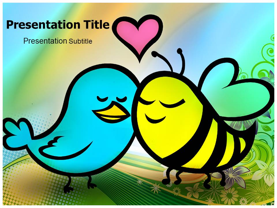 Bird and Bees Templates powerpoint templates