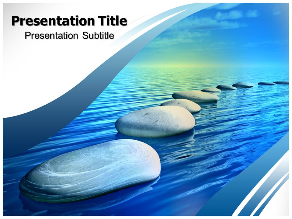 Step Stones Templates powerpoint templates