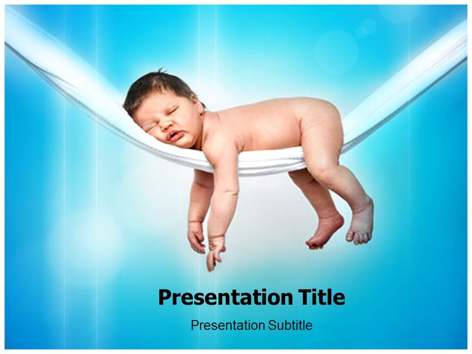 Baby Relaxing Templates powerpoint templates