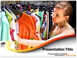 Cloth shop Templates powerpoint templates
