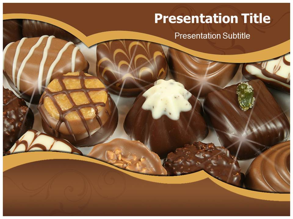 Chocolate  Templates powerpoint templates