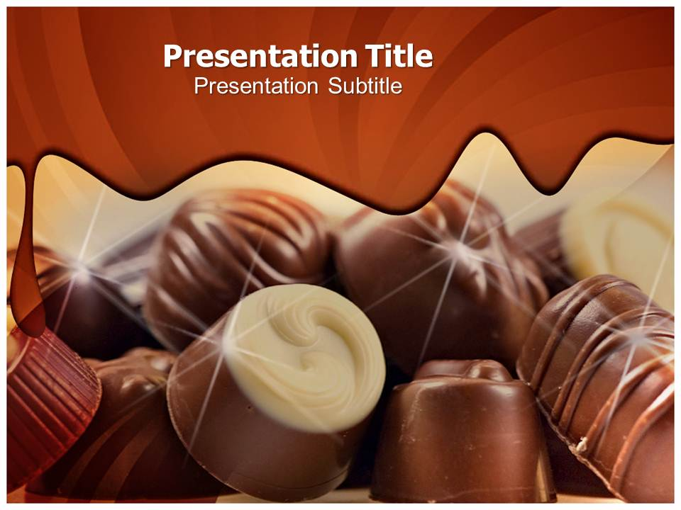 Delicious chocolate Templates powerpoint templates