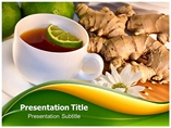 Herbal Tea Templates powerpoint templates