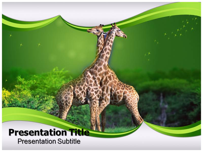 Herbivorus Animals Templates powerpoint templates