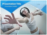 Psycho Girl Medical powerpoint templates