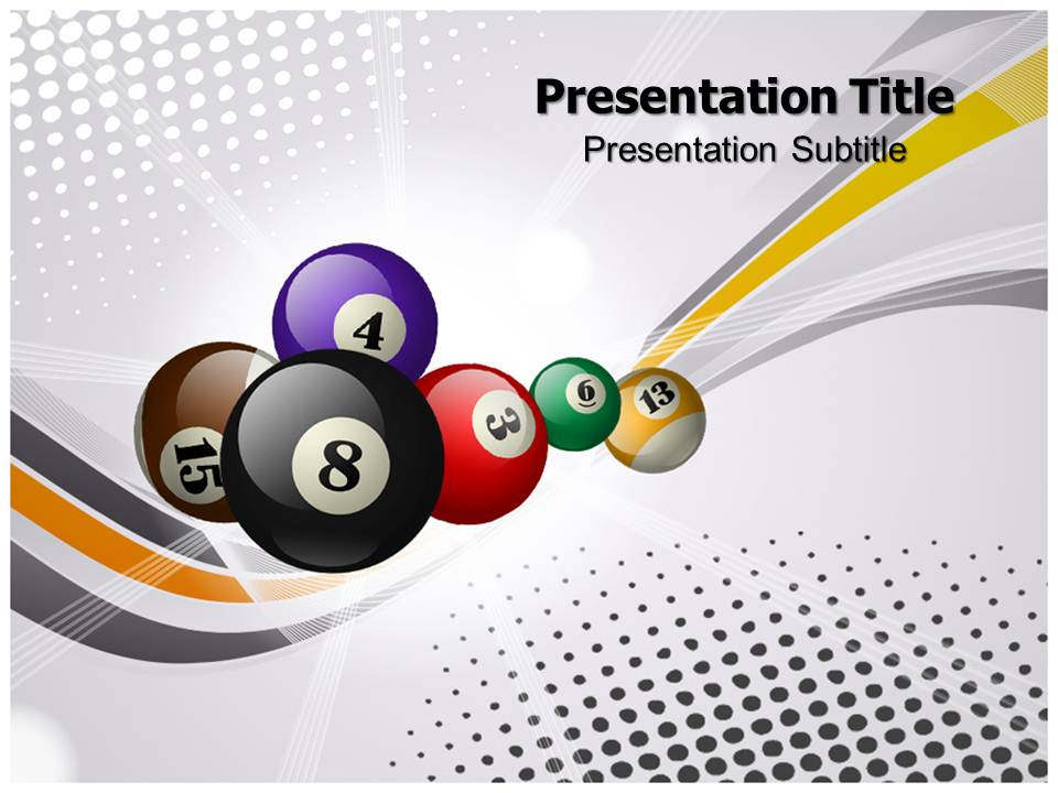 Billard Balls Templates powerpoint templates