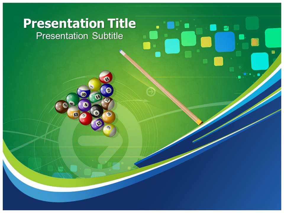Billiard Templates powerpoint templates