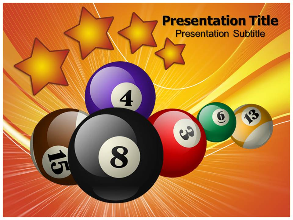 Pool Game Templates powerpoint templates
