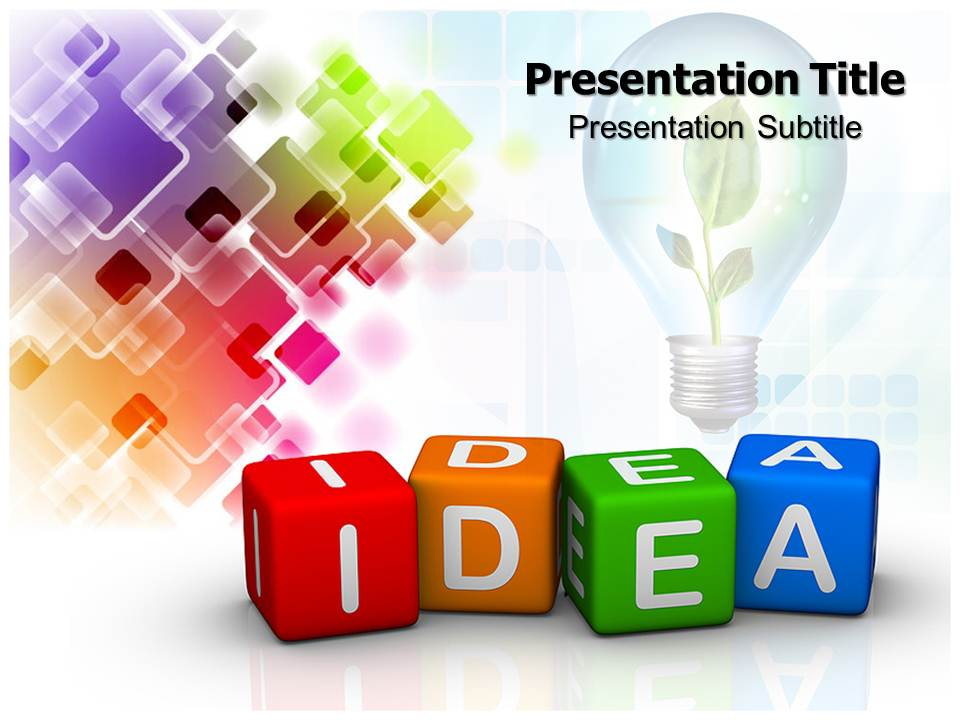 cubes with idea Business powerpoint templates