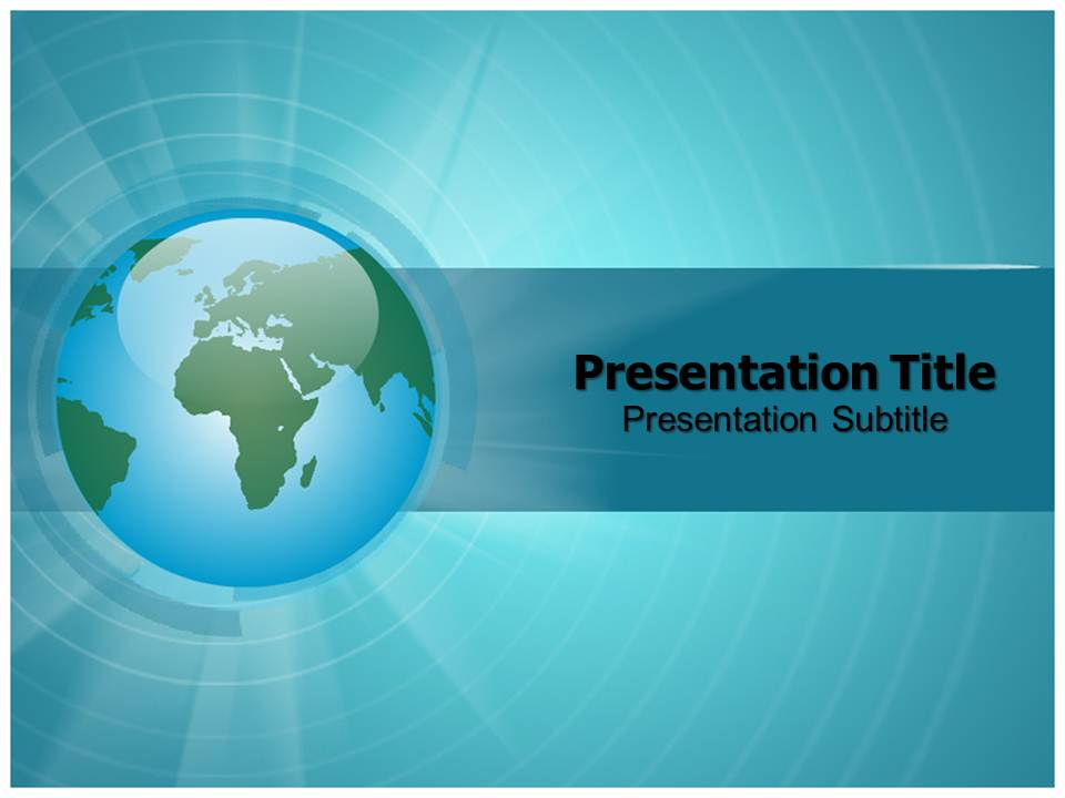 Spinning Globe Animations powerpoint templates