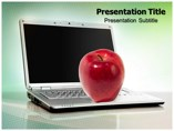 Laptop with Apple