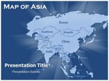 Map of Asia Maps powerpoint templates