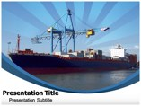 Container Ship Templates powerpoint templates