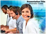 Customer Support Team Business powerpoint templates