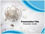 Puzzle Globe Templates powerpoint templates