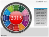 Calender 2015 Timelines & Calendars powerpoint templates