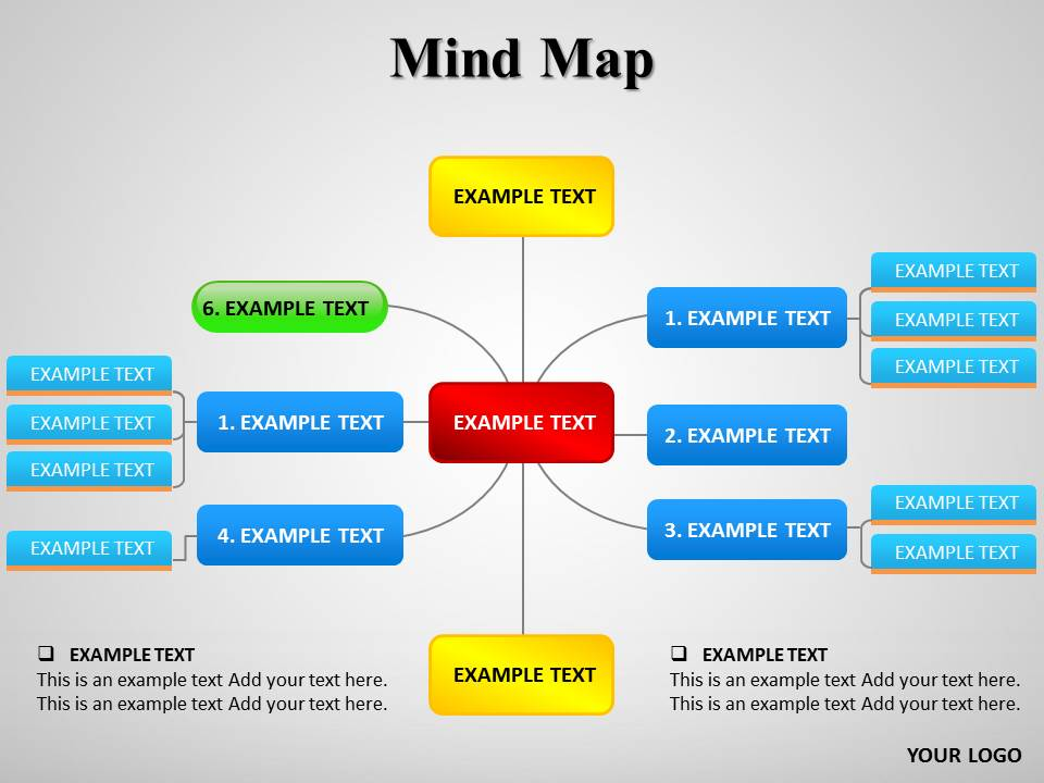Mind Map Diagrams powerpoint templates