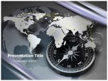 Compass on Map Animations powerpoint templates
