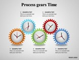 Process gears Time Diagrams powerpoint templates