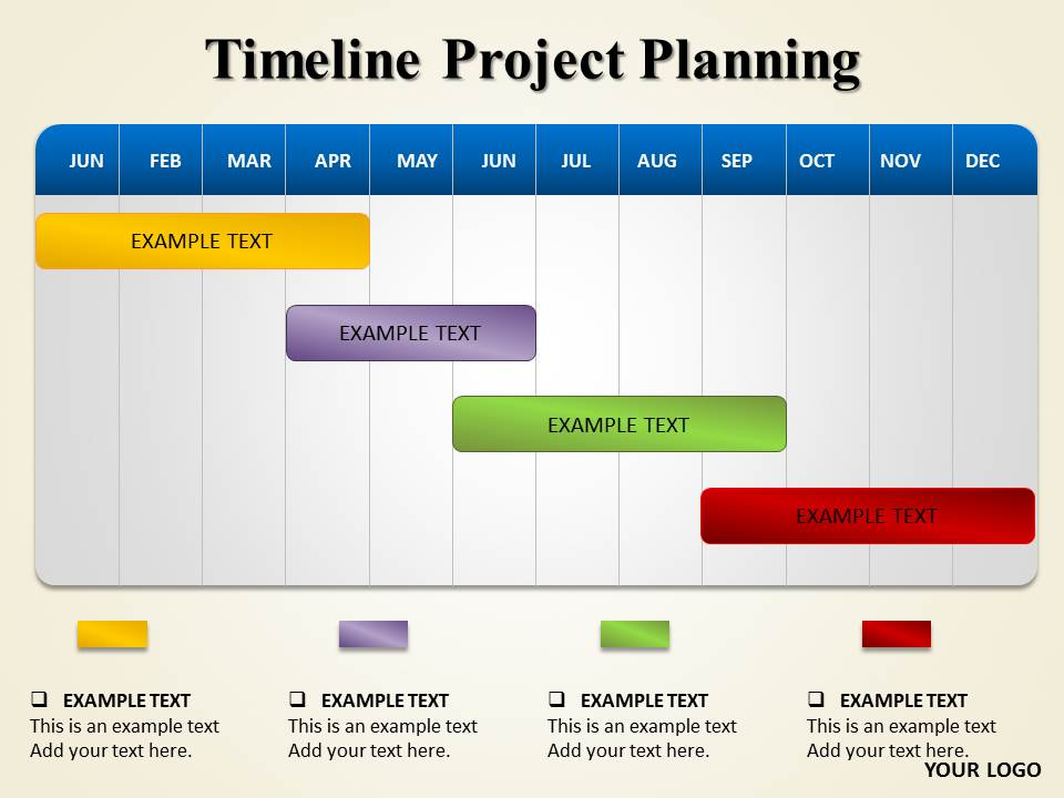 Timeline Project Timelines & Calendars powerpoint templates