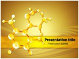 Golden Abstract Molecules