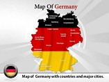 Germany Map Powerpoint Template