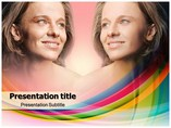 Woman face -Before and After Templates powerpoint templates