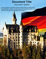 Germany Castle Word Templates powerpoint templates