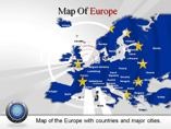 Map of Europe PowerPoint Slides