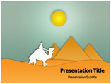 Egypt Desert and Pyramids Templates powerpoint templates