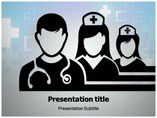 Medical Team Silhouettes Medical powerpoint templates