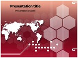 Presentation with World Map  powerpoint templates