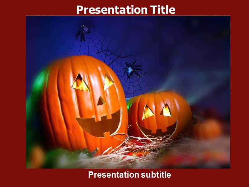 Animated Halloween Template PowerPoint