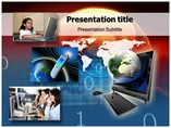 Telecommunication Net Templates powerpoint templates