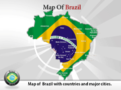 Brazil PowerPoint map