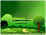 Green Meadows Templates powerpoint templates