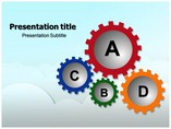 Colorful Cogs Templates powerpoint templates