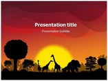 Savanna Sundown  powerpoint templates
