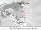 Asia Map PowerPoint Slides