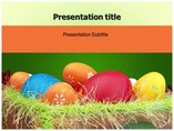 Painted Eggs Templates powerpoint templates