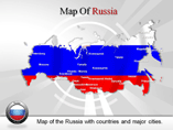 PPT Templates on Map of Russia Fedration