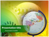 Global gears Templates powerpoint templates